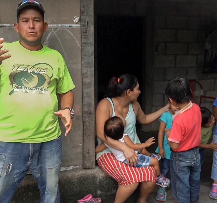Miguel (husband/step dad) talking